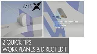 getlinkyoutube.com-Two Quick Tips, Axis x 2 = Work Plane, Direct Edit Measure From