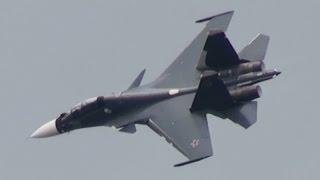 getlinkyoutube.com-MAKS 2015 Su-30SM Russian NAVY