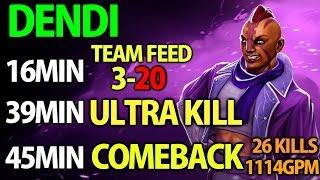 getlinkyoutube.com-Dendi Dota2 [Anti Mage] Supa Comeback with Team Feed & 1114GPM