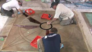 getlinkyoutube.com-Saw Cutting Concrete Patterns & Designs