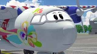 Airplane cartoon for kids - The Airport Diary - Illi's awesome change! (cartoon 69)