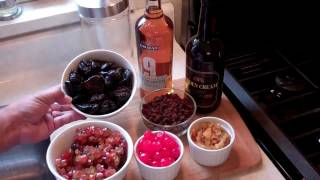 getlinkyoutube.com-How to prepare the dried fruits for making Caribbean Black Rum Cake.