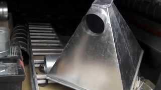 Вентиляционный прямоугольный зонт