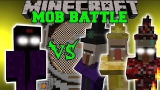 getlinkyoutube.com-WITCH KING VS TONS OF WITCHES - Minecraft Mob Battles - Mob Armor Mods