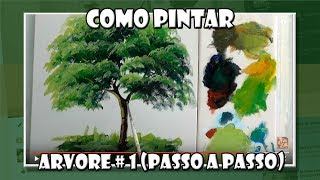 getlinkyoutube.com-Como Pintar :  Arvore / 1
