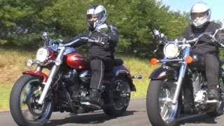 getlinkyoutube.com-Yamaha Midnight Star x Honda Shadow - Revista Motociclismo