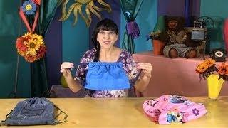 getlinkyoutube.com-Как сшить простой рюкзак из джинсов.