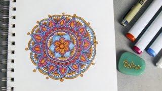 getlinkyoutube.com-Episode 1: How to Draw Mandalas for Beginners