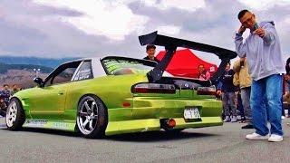 getlinkyoutube.com-【爆音大会】  S13 シルビア① @Track and show2016 車高短 シャコタン 直管 Lowered exhaust Low car