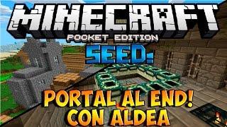 MINECRAFT PE 0.14.0: SEED DE ALDEA CON PORTAL AL END! | Seeds Para Minecraft PE 0.14.0