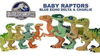 getlinkyoutube.com-Jurassic World Baby Raptors Echo Blue Delta & Charlie Unofficial LEGO KnockOff Set