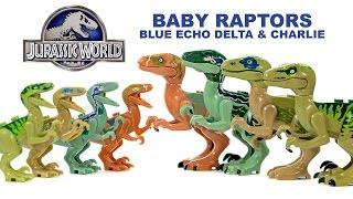 Jurassic World Baby Raptors Echo Blue Delta & Charlie Unofficial LEGO KnockOff Set