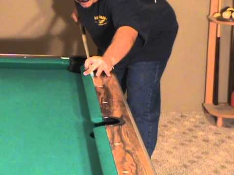 Pool Billiards Fundamentals. Develop a Straight Stroke Cover Seam. Pool School