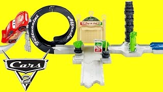 getlinkyoutube.com-Disney Pixar Cars 2 Luigi's Loop Playset Story Sets Collection of Cars Toys Club for Kids
