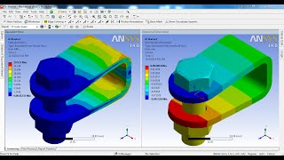 getlinkyoutube.com-ANSYS Workbench Tutorial Video | Bolt Pretension | Contact Non Linear FE Analysis | GRS |