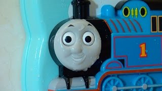 getlinkyoutube.com-機関車トーマス 10までかぞえよう!  / Fun on your bathroom wall! Thomas the Tank Engine Toy