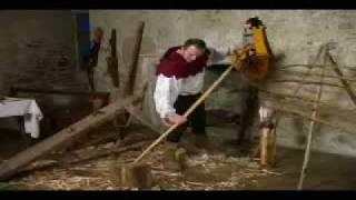 getlinkyoutube.com-English warbow, by 'Poitiers warbows' bowyer, Denis Mairine, documentary 2005