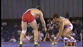 getlinkyoutube.com-1991 US Open Wrestling Championships 136.5 lbs - John Smith (USA) vs Metin Kaplan (TUR)