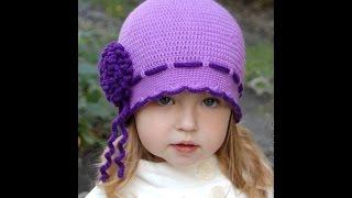 getlinkyoutube.com-Вязаные крючком детские шапочки