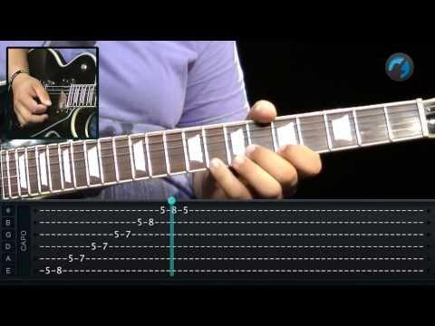 Padr�o Mel�dico - L� Menor (aula de t�cnica de guitarra)