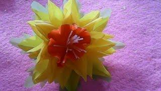 getlinkyoutube.com-DIY-kerajinan tangan bahan bekas-BUNGA PLASTIK-ex-crafts materials PLASTIC FLOWER