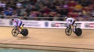 getlinkyoutube.com-BOTTICHER v DMITRIEV Gold Mens Sprint Final Race , 2013 UCI World Track Championships