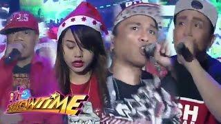 getlinkyoutube.com-It's Showtime: Alexiz vs Steph vs William Trauma vs Dhuski | Christmas Rapper