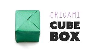 getlinkyoutube.com-Closed Origami Cube Box Instructions ♥︎ DIY ♥︎ Paper Kawaii