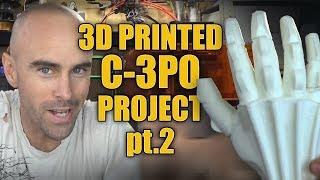 3d Printed C-3PO Statue Build pt.02