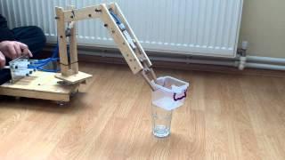 getlinkyoutube.com-Hidrolik Robot Kol Denemesi