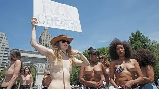 getlinkyoutube.com-Naked Protest Group On The Streets Of New York