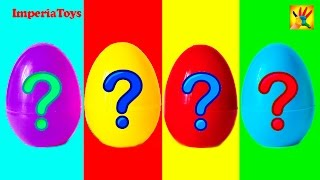 getlinkyoutube.com-Surprise Eggs Kinder Surprise Minnie Mouse Маша и Медведь Hello Kitty Disney Princess MLP