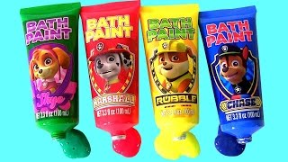 Paw Patrol Bathtub Paint Learn Colors with Pocoyo & Lightning McQueen Color Changers Cars Water Toys
