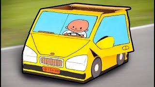 getlinkyoutube.com-Cardboard Car - Crafts Ideas For Kids   DIY on BoxYourself