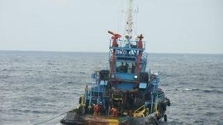 getlinkyoutube.com-For Seamen only - Offshore Hose Handling Operation