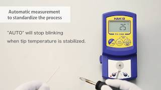 HAKKO FG-100B; automatic measurement to standardize the process