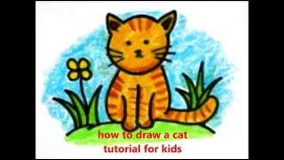 getlinkyoutube.com-how to draw a cat (cara menggambar kucing untuk anak-anak)