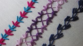 getlinkyoutube.com-Hand Embroidery Designs | Basic embroidery stitches # Part 6 | Stitch and Flower-76