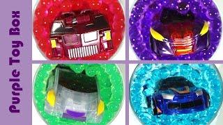 getlinkyoutube.com-그리폰 스핑크스 바벨 에반 개구리알에서 변신 터닝메카드 그리핑크스 Mecard Mini Car Auto Transforming In Orbeez 퍼플토이박스