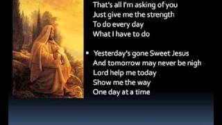 One day at a time (lyrics)