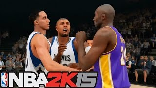 getlinkyoutube.com-NBA 2K15 My Career: Ejected For Fighting Kobe! Full Court Shot On The Miami Heat!