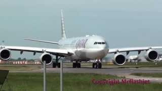 getlinkyoutube.com-Qatar Airways A340-600 {A7-AGC} Full Flight Departure at London Heathrow