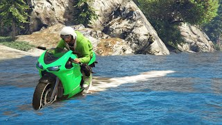 getlinkyoutube.com-DRIVING ON WATER WITH MOTORBIKES! (GTA 5 Funny Moments)