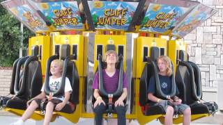 Funny Kid On Cliff Jumper HD Scandia Amusement Park