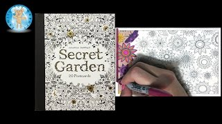 Secret Garden by Johanna Basford Adult Coloring Book Postcards Floral - Family Toy Report