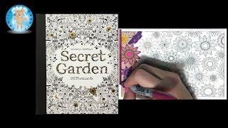 getlinkyoutube.com-Secret Garden by Johanna Basford Adult Coloring Book Postcards Floral - Family Toy Report
