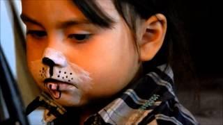 getlinkyoutube.com-Como pintar la cara | Perrito, Gatita