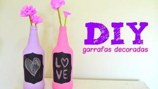 getlinkyoutube.com-DIY Garrafas Decoradas