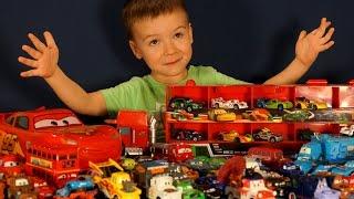 getlinkyoutube.com-Тачки игрушки из мультика. Тачки Молния Маквин. Игрушки Дисней. Disney Pixar Cars Toys Collection