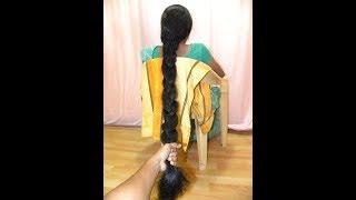 Thick Hair Braid Making of Rekha